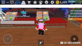 Work at rhe pizza place sort film: ROBLOX