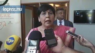 La ministre de l'Éducation, Leela Devi Dookun-Luchoomun était prése...