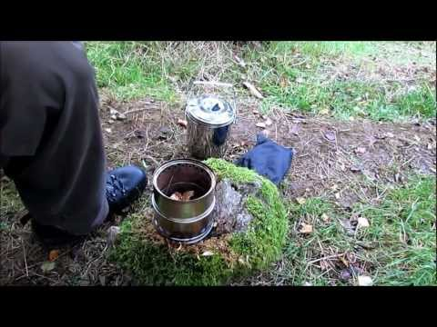 Solo Hammock Camping + Wild Stove and Billy Can