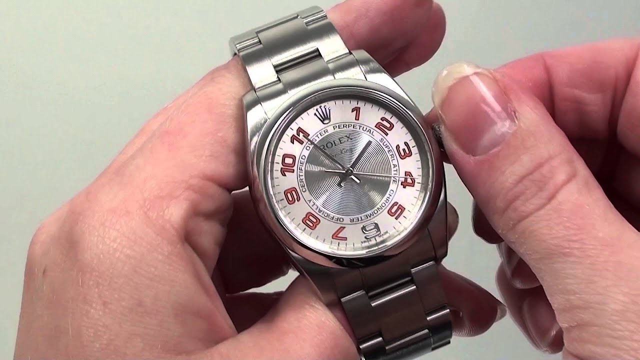 How to Set the Time for the Rolex Oyster Perpetual - YouTube