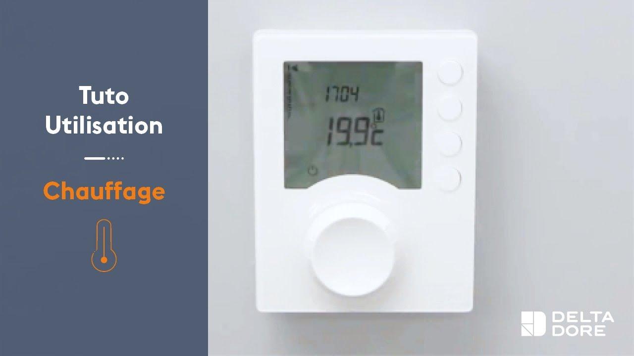 Utilisation Chauffage Programmer Un Thermostat Tybox 6 Consignes Delta Dore Youtube
