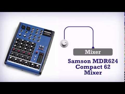 Samson mdr624 6-channel mixer with 2 low noise microphone preamps.