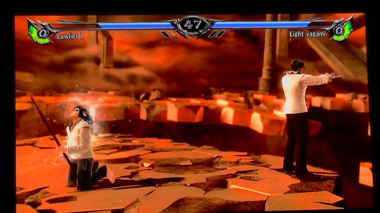 Soul Calibur V Light Yagami Vs L Deathnote Youtube