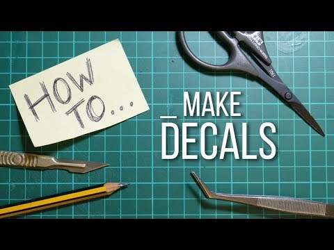 'HOW TO' Make Water-slide Decals For Die-cast And Model Cars