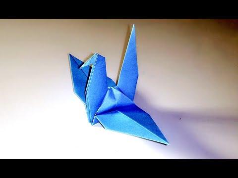 Origami Bird Paper Bird Origami Crane Magpie Easy Tutorial Video