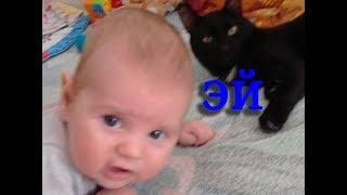 Новорожденный и кот в одном доме. Кот как второй ребенок.