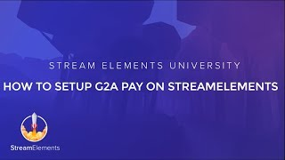 StreamElements - How to setup G2A Pay tipping thumbnail