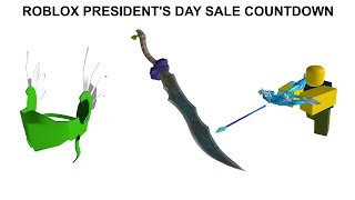 ROBLOX PRESIDENT'S DAY SALE (COUNTDOWN)