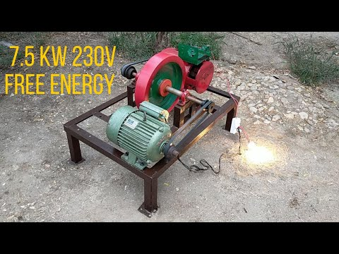 How to Make Free Electricity at home 7kw 230v Free Energy With Flywheel Alternator & Motor
