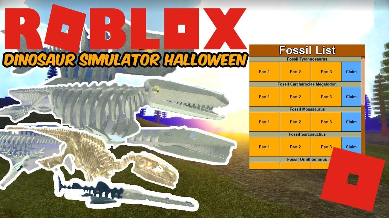 Dino Sim Halloween 2020 Roblox Dinosaur Simulator Halloween   How To Get All Fossils