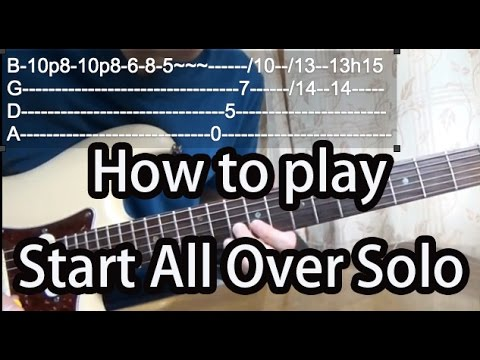 How To Play Start All Over Solo-Kula Shaker Guitar Tutorial With Tabs