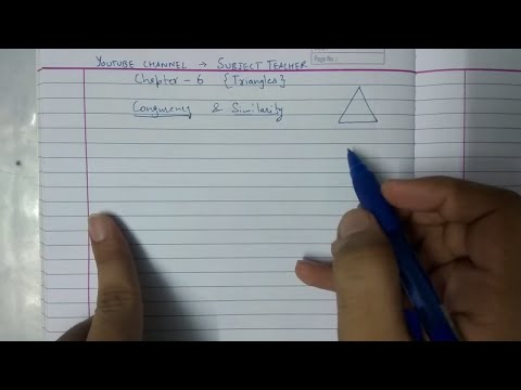 Introduction to Triangles and Exercise 6.1 class 10 maths NCERT || Math Tutor