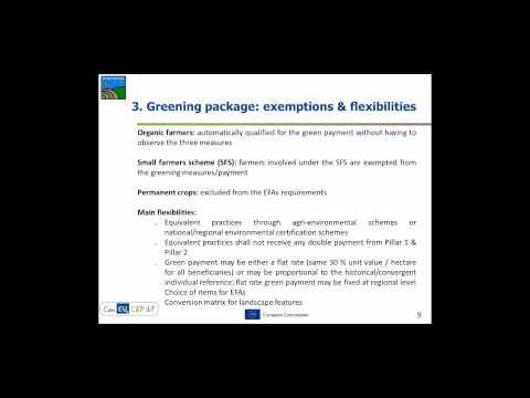 'Can EU CAP it?' Webinar: CAP greening or green-washing?