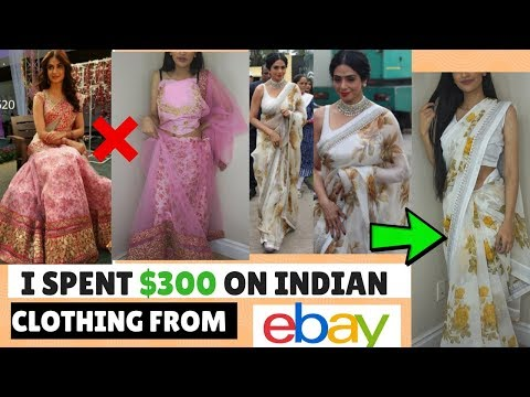 I SPENT $300 ON INDIAN CLOTHING FROM EBAY | TRYING ON CHEAP LEHENGAS AND SAREES