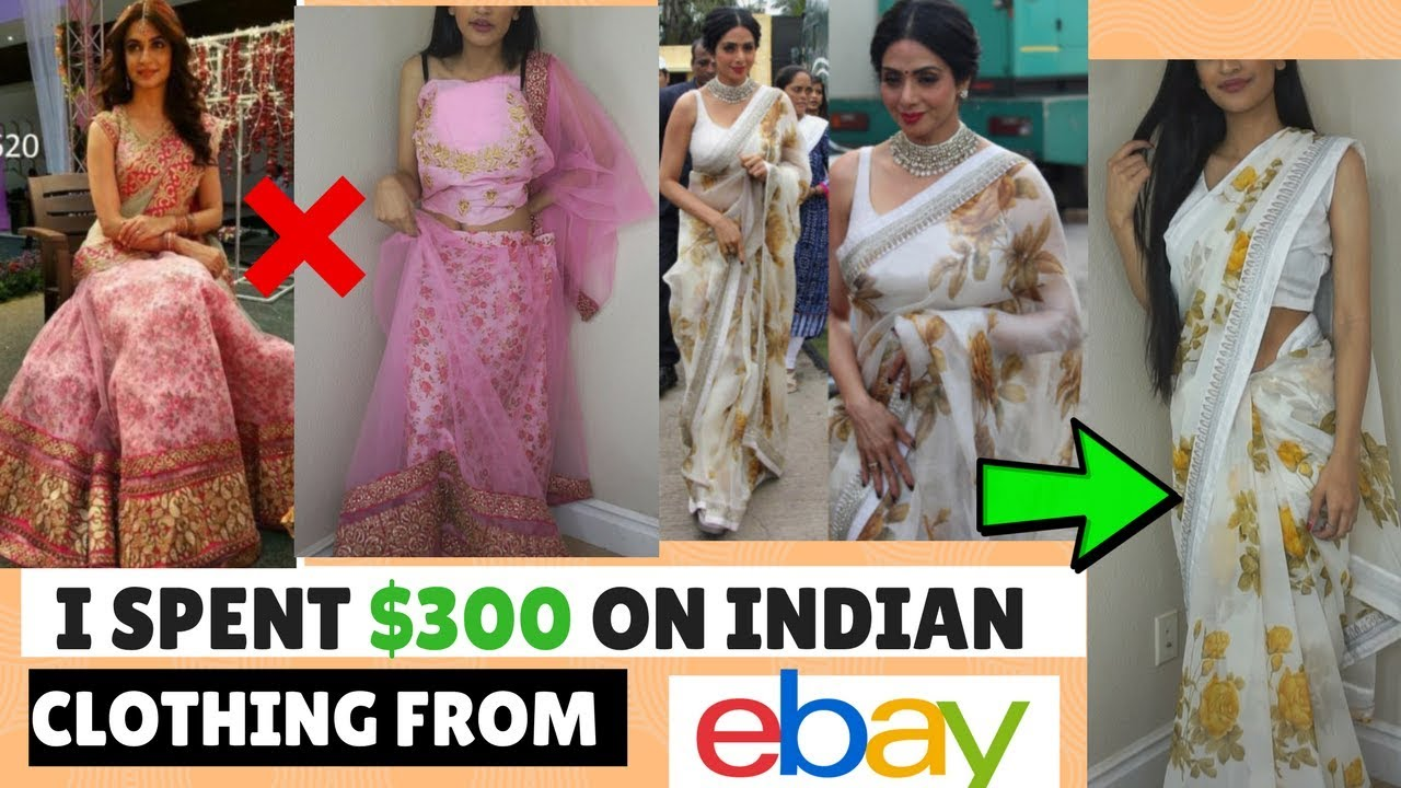 I Spent 300 On Indian Clothing From Ebay Trying On Cheap Lehengas