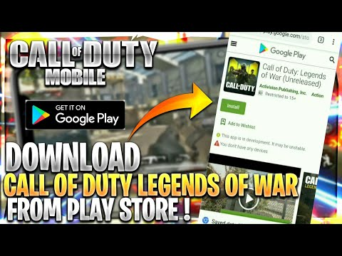 How to Download Call of Duty Legends of War from Playstore ! Full Tutorial Android !