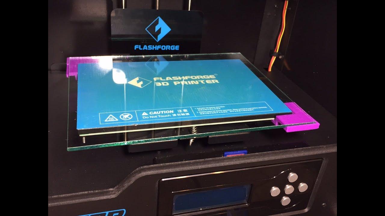 Flashforge Creator Pro 3d Printer Larger Bed Upgrade Youtube