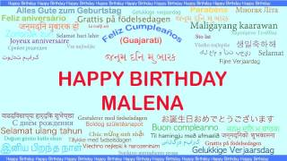 Malena   Languages Idiomas - Happy Birthday