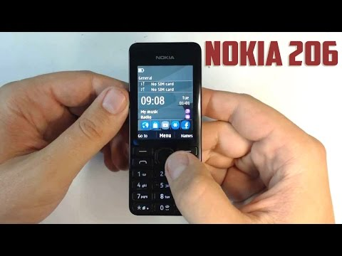 Nokia 206 Basic Phone - Unboxing & First boot. (Supports Facebook & Whatsapp)