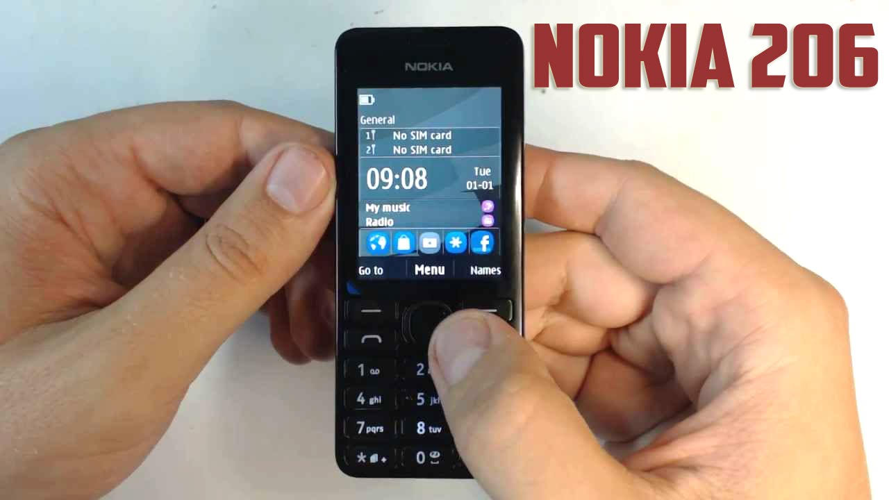 Nokia 206 Basic Phone - Unboxing & First boot  (Supports Facebook &  Whatsapp)