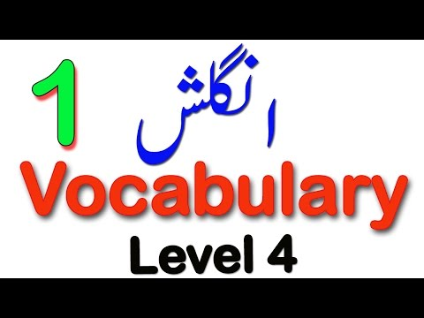 English Vocabulary In Urdu:Lesson No 1