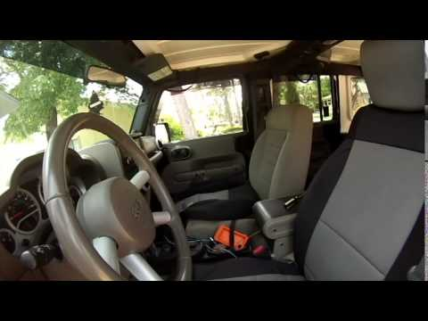 Installing Neoprene Seat Covers By Smittybilt In 2008 Jeep Wrangler JKU