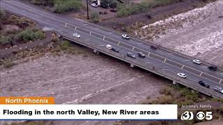 LIVE AERIALS: Heavy rains have flooded parts of the north Valley.