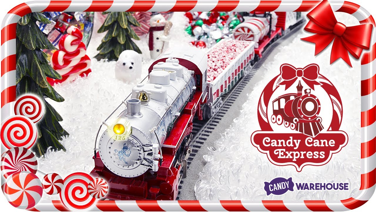 Christmas Candy Train.Candy Cane Express The Christmas Candy Train