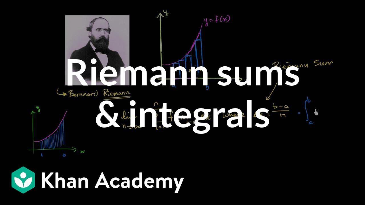 Definite integral as the limit of a Riemann sum | AP ...