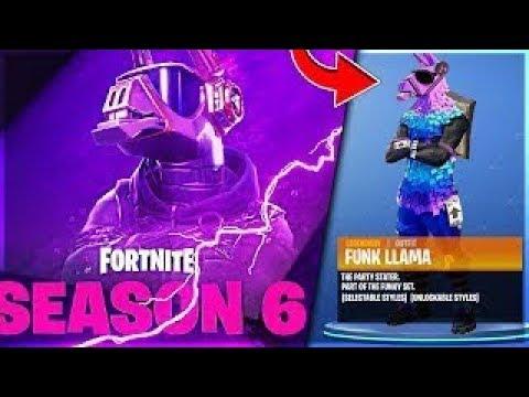 Fortnite Dj Llama Skin Season 6 Youtube