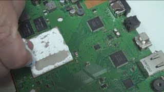 PS3 Slim Замена термопасты на PS3