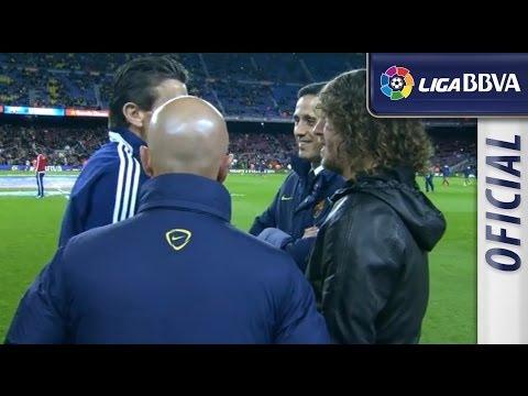 Puyol hablando con Unzué I Puyol talking with Unzué - سلتيك برشلونة