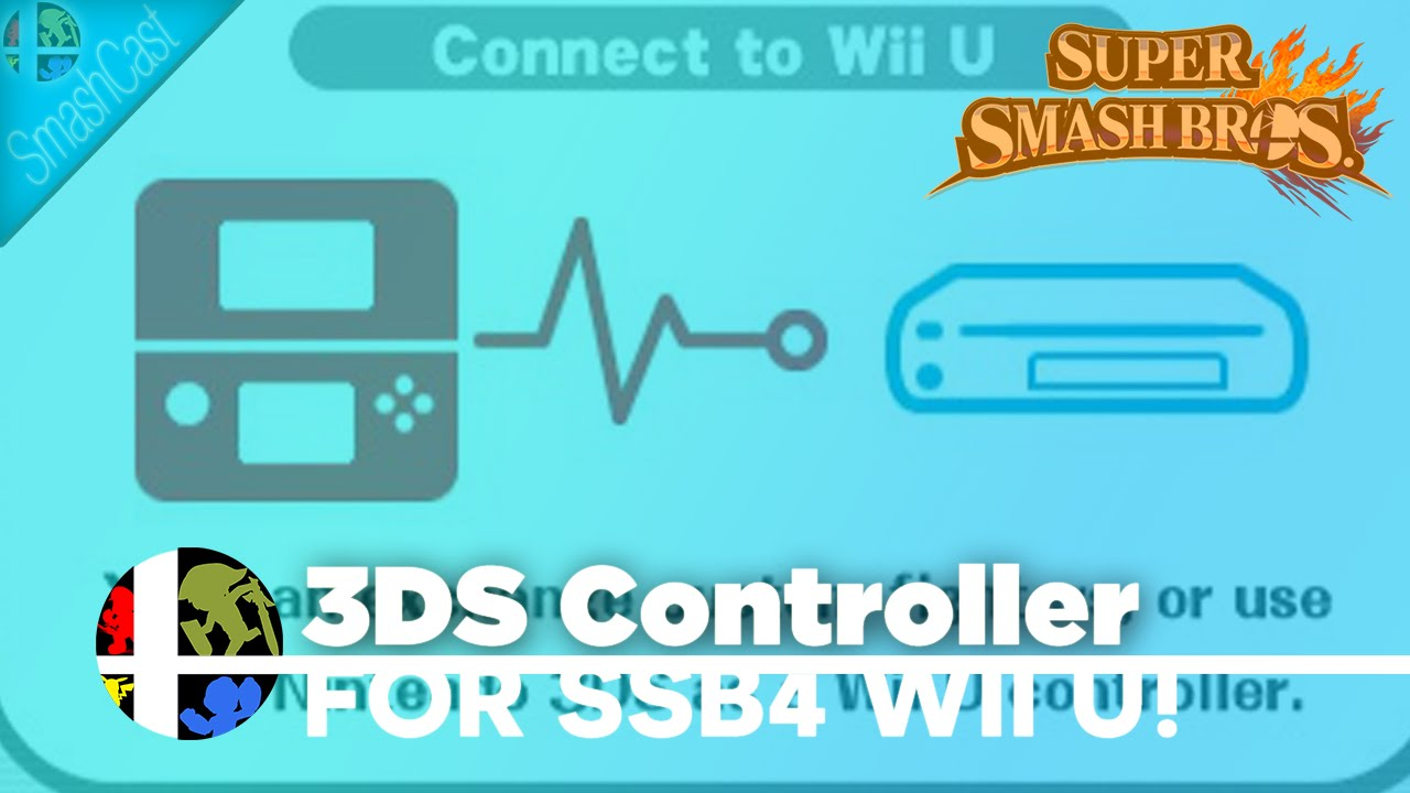 Use your 3DS as SSB4 Wii U Controller! - YouTube