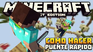 Minecraft Pocket Edition 0.15.7 [Truco] - Como HACER PUENTE RAPIDO!!!