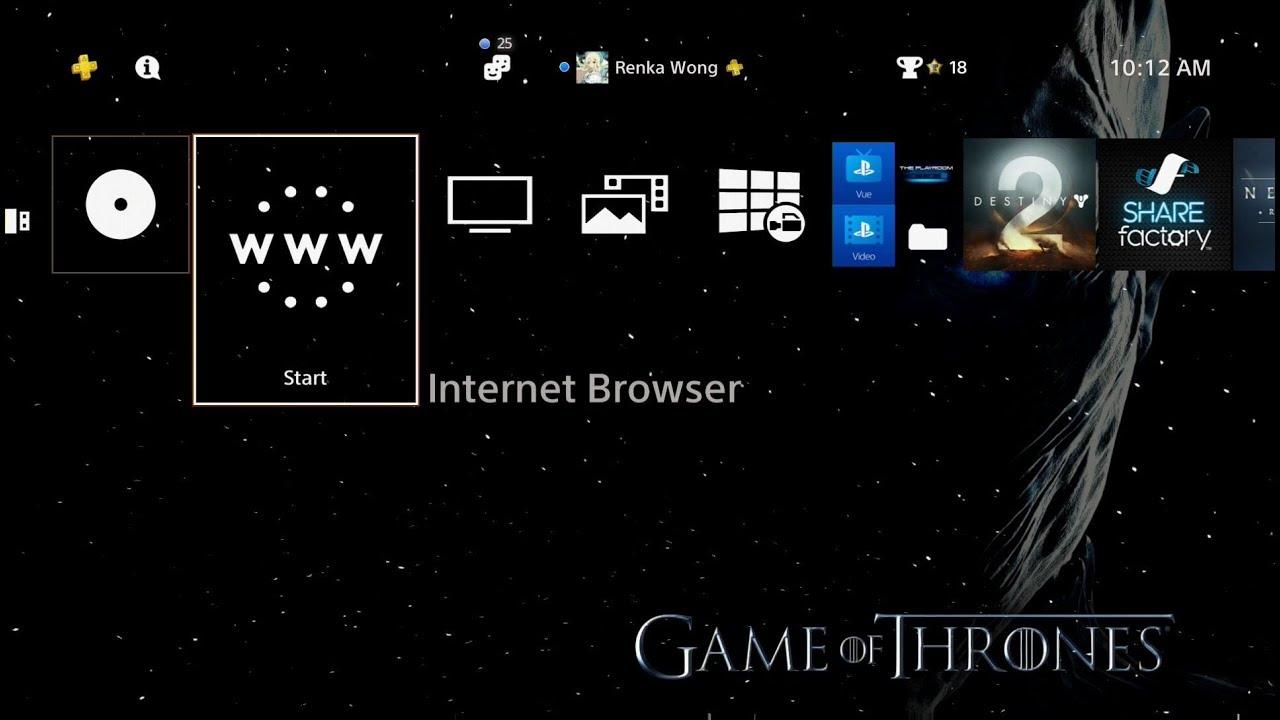 Game Of Thrones Season 7 Dynamic Theme Ps4 Youtube