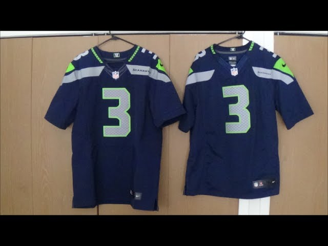 Nike Elite vs Nike Limited Jersey Comparison Seahawks - YouTube