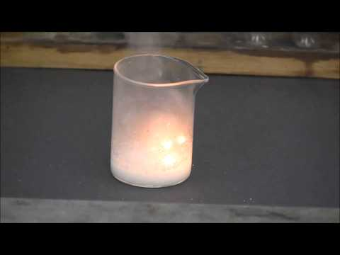Sodium Metal Reacting With Concentrated Hydrochloric Acid