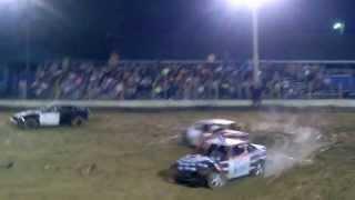 Brandon Warner N21 Minion Car Apple Butter Festival Demolition Derby 09/20/2014