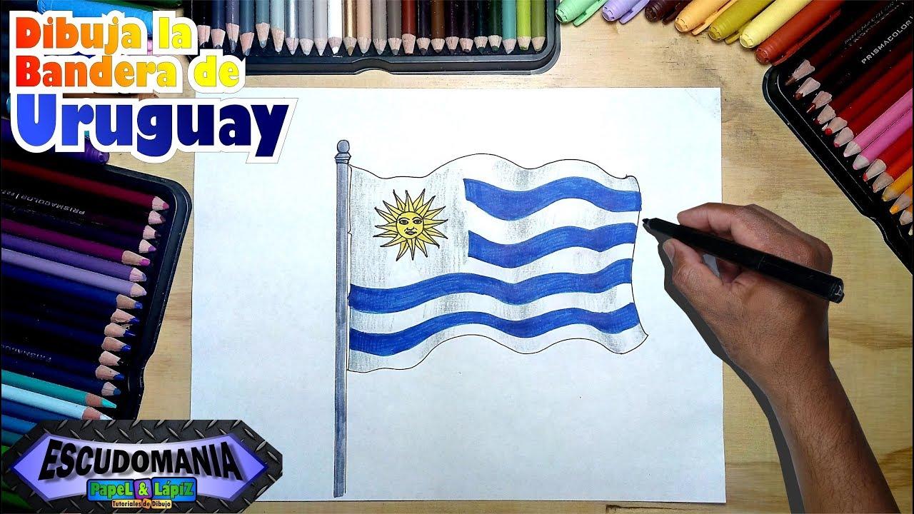 Cómo Dibujar La Bandera Nacional De Uruguay Youtube