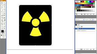 Nuclear warning sign - video tutorial