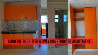 MODERN BEDSITTER| studio apartment  tour 2020  | newly constructed apartment (Nairobi, kenya)