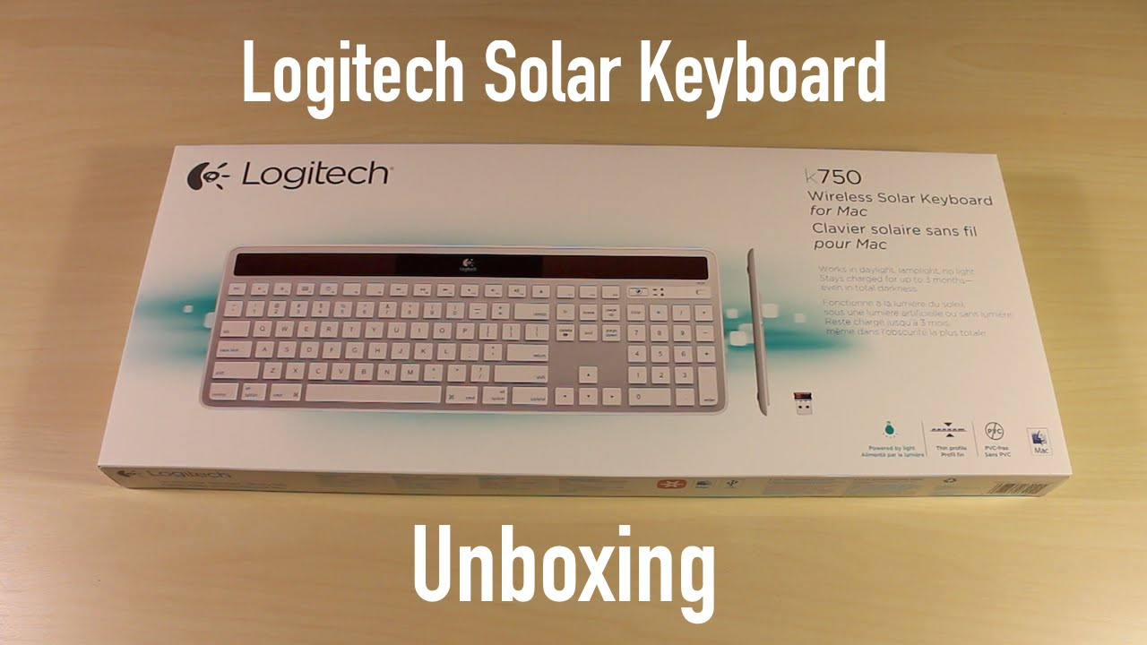 dbd745106b1 Logitech K750 Solar Keyboard Unboxing - YouTube