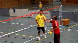 Repeat youtube video Sepaktakraw demonstration @ Dragon's Cup 2012 with Zabidi Shariff.