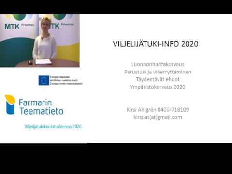 Farmarin Teematieto 2020 Kirsin esittely ja tukikoulutuskokonaisuus