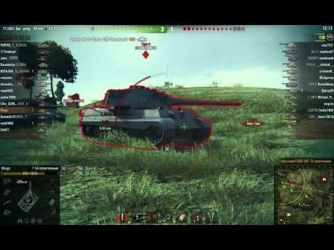 Мега эпичный врыв на Т-54 облегчённом