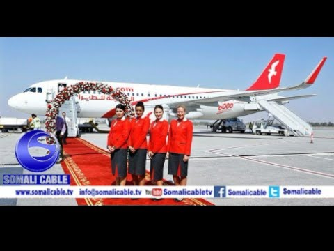 Daawo Diyaarada Air Arabia Oo Saaka Bilawday Duulimaadkeedii Ugu Horeeyay Garoonka Hargeysa