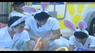 Kenzo with other boy HMS as bunny