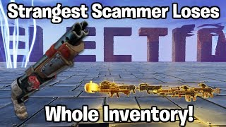 The Worlds Strangest Scammer Gets Scammed For Whole Inventory! - Fortnite Save The World
