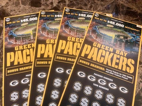 2019 $10 PACKER LOTTERY TICKETS.. CAN I WIN? Wisconsin Lottery Scratch Offs!!