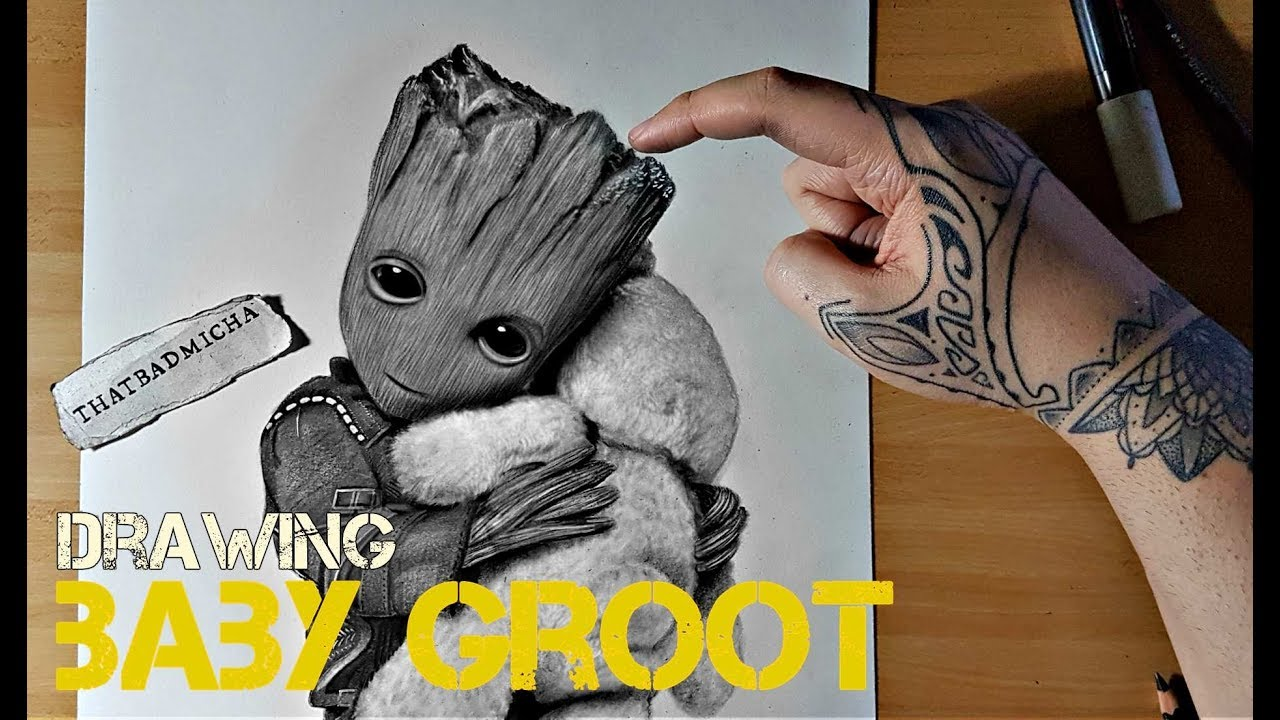Drawing Baby Groot Youtube